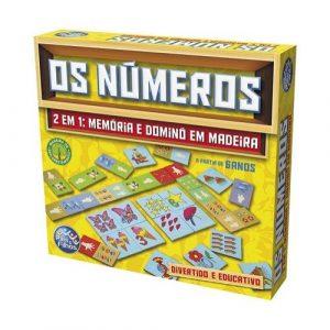 Jogos Os Números em madeira (memória e dominó)