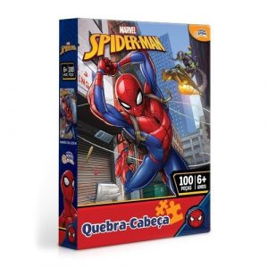 Quebra cabeça 100 peças Homem Aranha