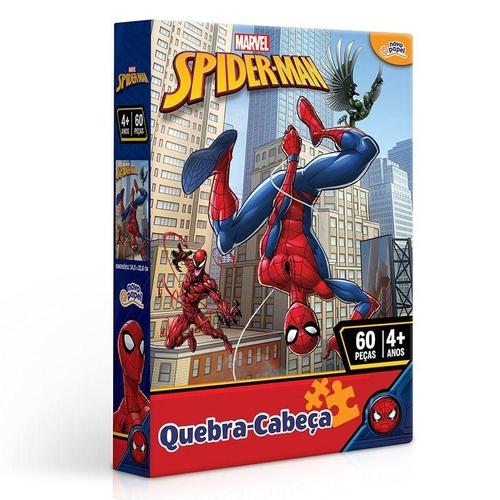 Quebra cabeça 60 peças homem aranha