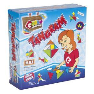 Tangran MDF 35 peças - Carlu Brinquedos - Sapeca Brinquedos