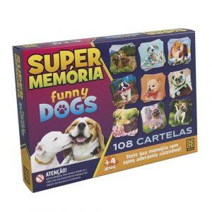 Jogo Super Memória Funny Dogs - 108 cartelas - Grow - Sapeca Brinquedos