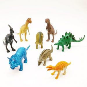 Kit de dinossauro com 8 unidades