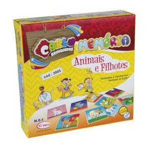 Jogo da Memória Animais e Filhotes Sapeca Brinquedos
