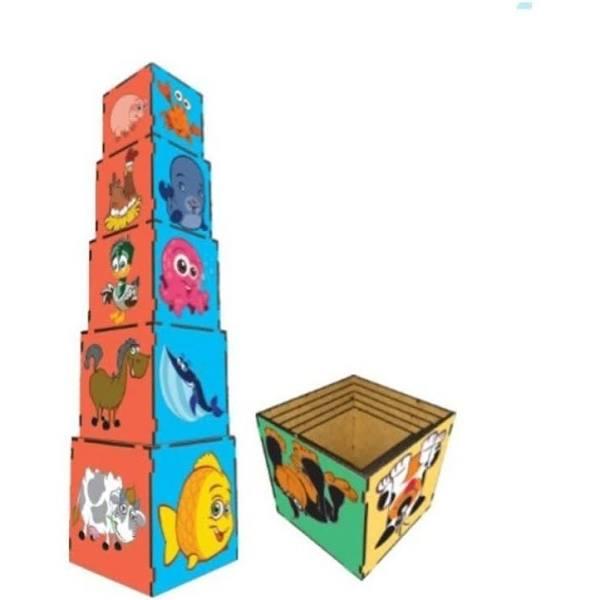 Brinquedos Cubo de Encaixe Animais