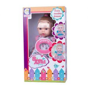 Boneca Sonho Azul 120 Frases Com Cabelo - Cotiplás - Sapeca Brinquedos