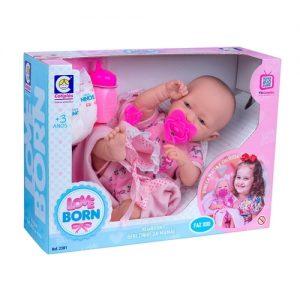 Boneca Love Born Bebezinho Da Mamãe - Cotiplas - Sapeca Brinquedos