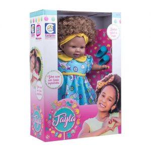 Boneca Tayla Negra - Cotiplás - Sapeca Brinquedos