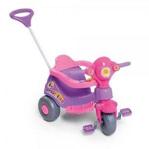 Triciclo Velocita Rosa - Calesita - Sapeca Brinquedos